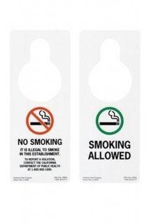 MOTEL DOOR SIGN (NO SMOKING/SMOKING ALLOWED)
