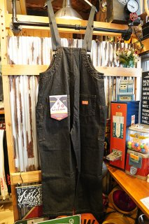 Cookman Fisherman's Bib Overall (「Denim」Black)