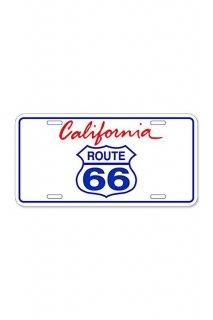 ROUTE 66 LICENSE PLATE アルミニウムサイン (CALIFORNIA)
