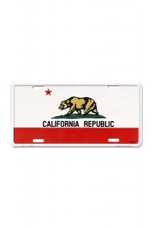CALIFORNIA REPUBLIC LICENSE PLATE アルミニウムサイン