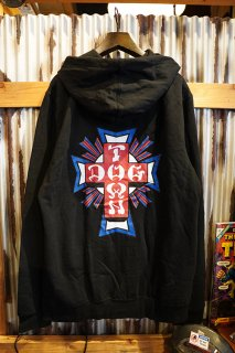 DOGTOWN Cross Logo USA Lightweight Zip Hood (Black/USA)