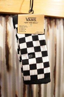 VANS CHECKERBOARD II CREW SOCKS (BLACK-WHITE CHK)