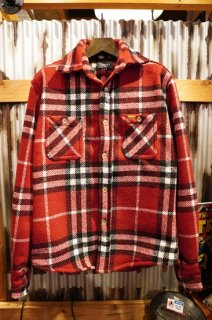 SEAGER EARP FLANNEL JACKET (RED/WHITE)