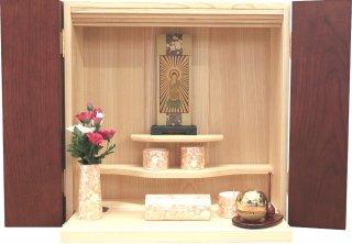 仏壇 壁掛け ミニ仏壇 モダン仏壇 コンパクト 仏具一式セット たまゆらりん 洋風 壁壇 14号 かべだん 送料無料