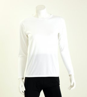 【人気商品】コンフォータブルレディス長袖Tシャツ NANOMIX 乾燥肌 敏感肌