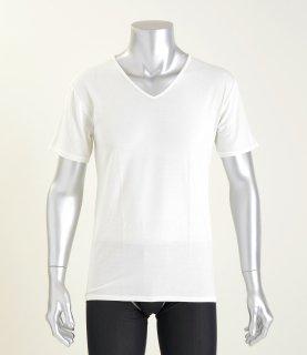 【人気商品】秋冬用あったかVネック半袖Tシャツ  NANOMIX 乾燥肌 敏感肌