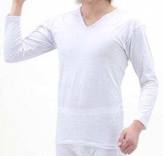 日本製 インナーシャツ(長袖) メンズ  ナノミックス | 日本アトピー協会推薦品 インナー トップス  吸水速乾 消臭抗菌 特許 肌にやさしい かぶれない ムレない 縫い代