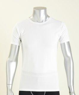 日本製 コンフォータブル半袖シャツ メンズ  ナノミックス | 日本アトピー協会推薦品 インナー トップス  吸水速乾 消臭抗菌 特許 肌にやさしい かぶれない ムレない 縫い代