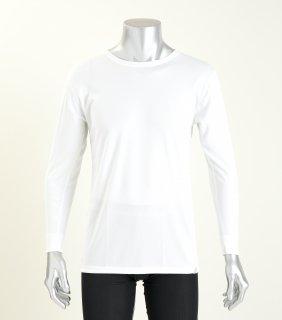 日本製 コンフォータブルTシャツ(長袖) メンズ  ナノミックス | 日本アトピー協会推薦品 インナー トップス  吸水速乾 消臭抗菌 特許 肌にやさしい かぶれない ムレない 縫い代