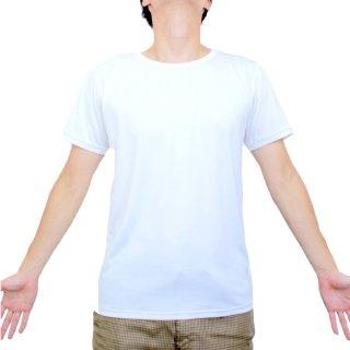 日本製 ベーシック半袖シャツ メンズ  ナノミックス | 日本アトピー協会推薦品 インナー トップス 吸水速乾  消臭抗菌 特許 肌にやさしい かぶれない ムレない