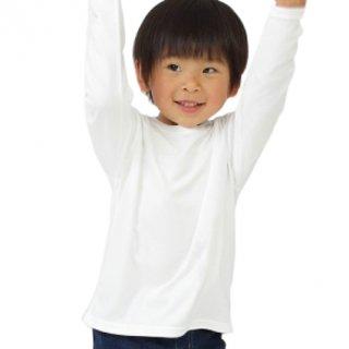 【人気商品】ベーシックキッズ長袖シャツ NANOMIX 乾燥肌 敏感肌 さらさら素肌ちゃん
