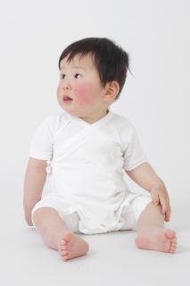 日本製 カバーオール型ベビー肌着 ナノミックス    日本アトピー協会推薦品 子ども用 敏感肌 春夏 秋冬 冷房 保温 薄手 吸水速乾 ベビー服 赤ちゃん