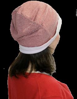 【蒸れない帽子】薄手リバーシブルキャップ(ナノミックス使用)【医療用】【抗がん剤】【術後ケア】【薄毛隠し】【白髪隠し】