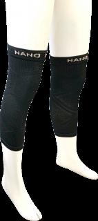 日本製 レッグサポーター(ひざ) ナノミックス 黒 2枚 日本アトピー協会推薦品 乾燥肌 敏感肌 かゆくならない ムレない 消臭抗菌 吸水速乾 加圧 立ち仕事 介護
