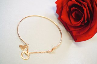 <img class='new_mark_img1' src='https://img.shop-pro.jp/img/new/icons55.gif' style='border:none;display:inline;margin:0px;padding:0px;width:auto;' />K18 【Heart】Rose-Gold ブレスレット