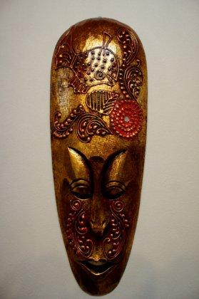 ロンボクマスクMサイズ50cm ゴールド