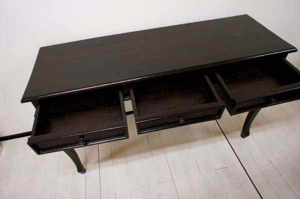 猫足コンソールテーブル 3引き出し