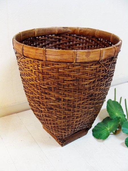 ロンボク島のシンプル バスケット(Lサイズ)