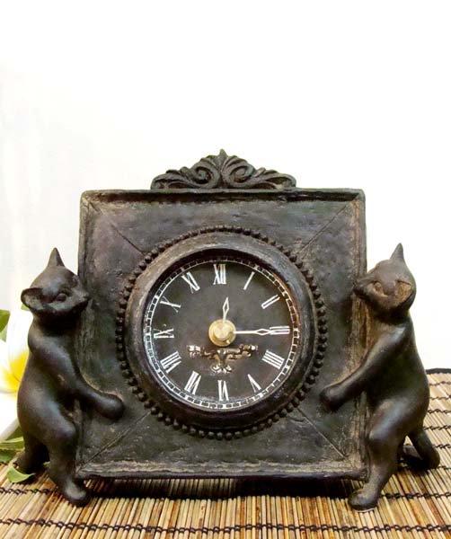ネコ置時計(2匹タイプ)