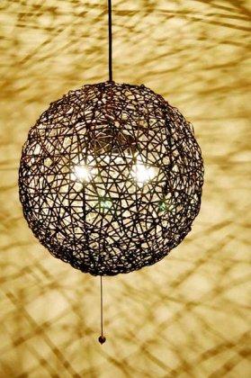 ラタンツイストペンダントライト(ボール型2灯タイプ)