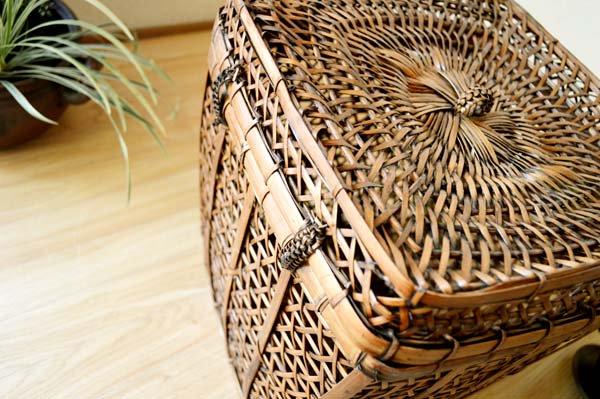 ロンボク島のキューブバスケット(Mサイズ)