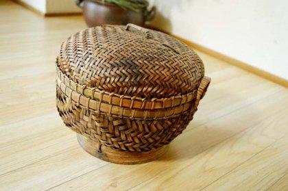 バリ島のラウンドバスケット(Sサイズ)