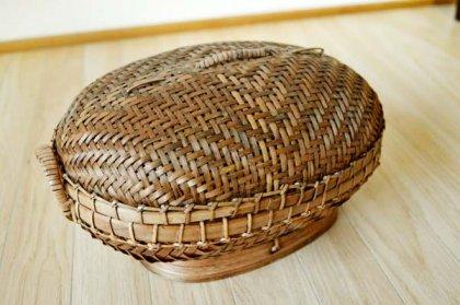 バリ島のオーバルバスケット(Sサイズ)