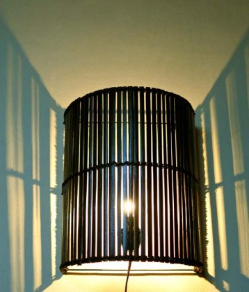 バンブーウォールブラケットランプ