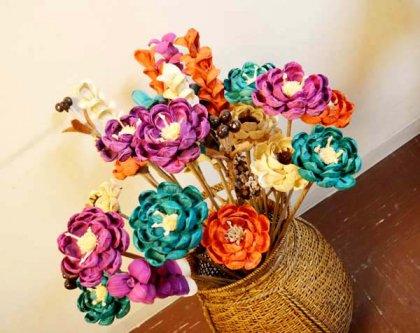 バリ島のナチュラルフラワー造花