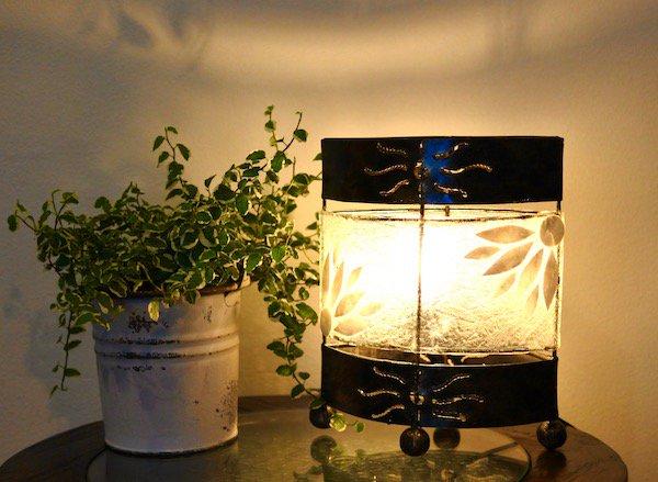 アイアンとフラワーシェルのランプS