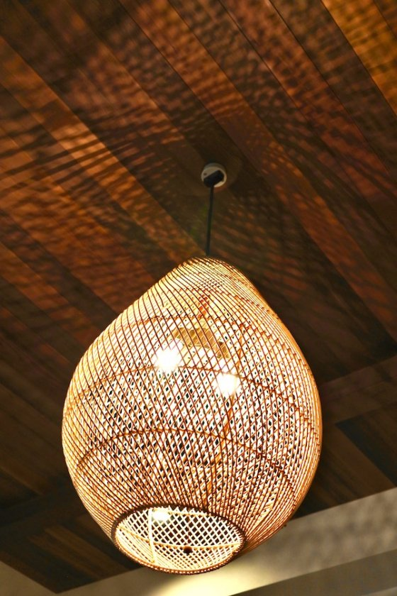 ラタンフィグペンダントランプ2灯型