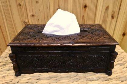 ロンボク彫刻ティッシュボックス