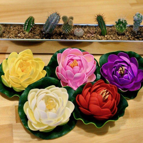 カラフルロータス造花(5カラー)
