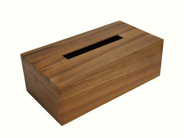 チークのシンプルティッシュボックス(ナチュラル)