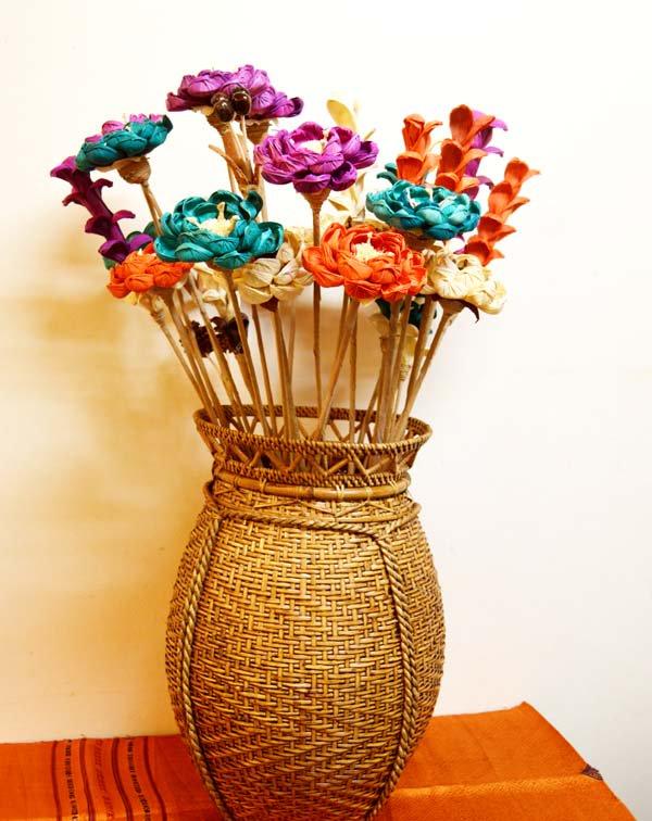 バリ島のナチュラルシード造花