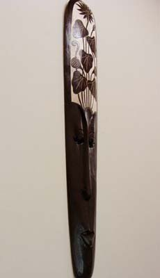 バリ島のスカルプマスク ロータス柄