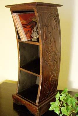 ロンボク彫刻3段ラック