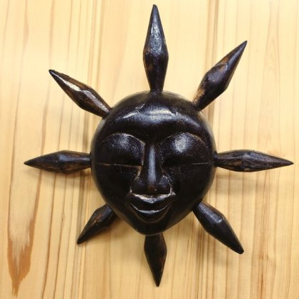 にっこり太陽(ブラウン)