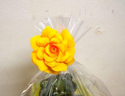 ローズレインボー(造花)イエロー