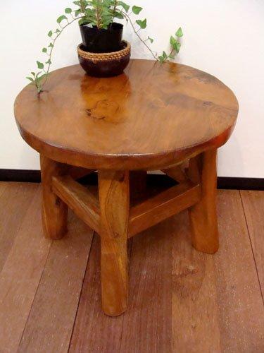 チーク材ナチュラル テーブル&チェアセット