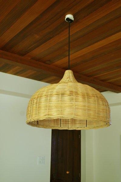 ラタン製 ハワイアンリビングランプ(2灯型)