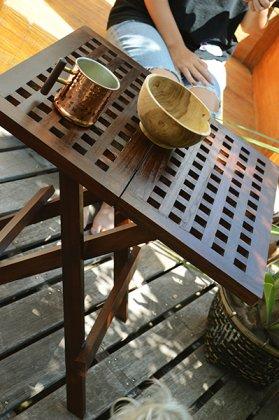 【8月下旬入荷予定】チーク材のガーデンテーブル(スクエア)