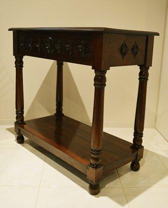 JA花彫刻のコンソールテーブル 80cm