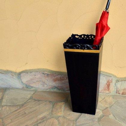 リーフ彫刻傘立て