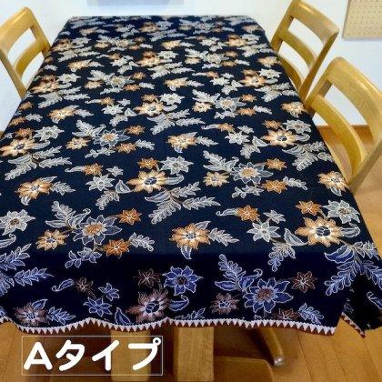 バティックボタニカルクロス(ネイビー)220×100(A・B)