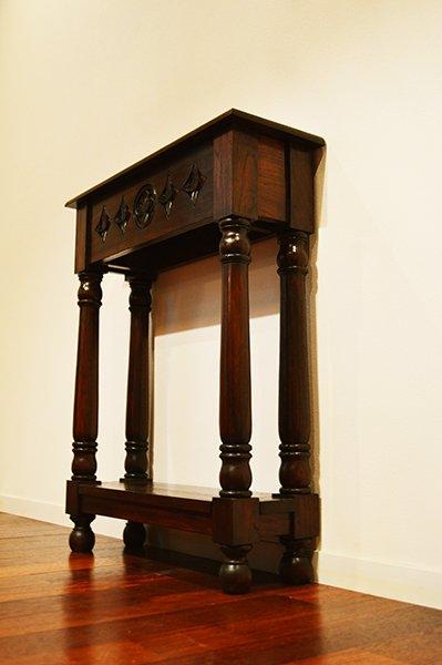 【7月下旬入荷予定】JA花彫刻のコンソールテーブル(薄型60)