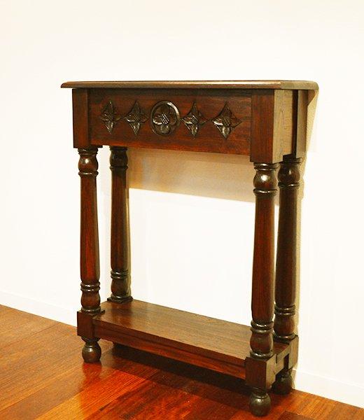【5月上旬入荷予定】JA花彫刻のコンソールテーブル(薄型60)