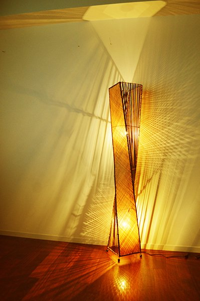 バンブー編込トルネードランプLL(2灯タイプ)