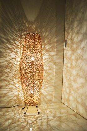 【9月中旬入荷予定】ラタンツイストコーンランプ2灯タイプ100cm