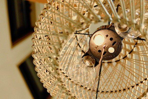 【7月上旬入荷予定】ラタン編み込みペンダントランプS30cm2灯型(ナチュラル・ブラウン)
